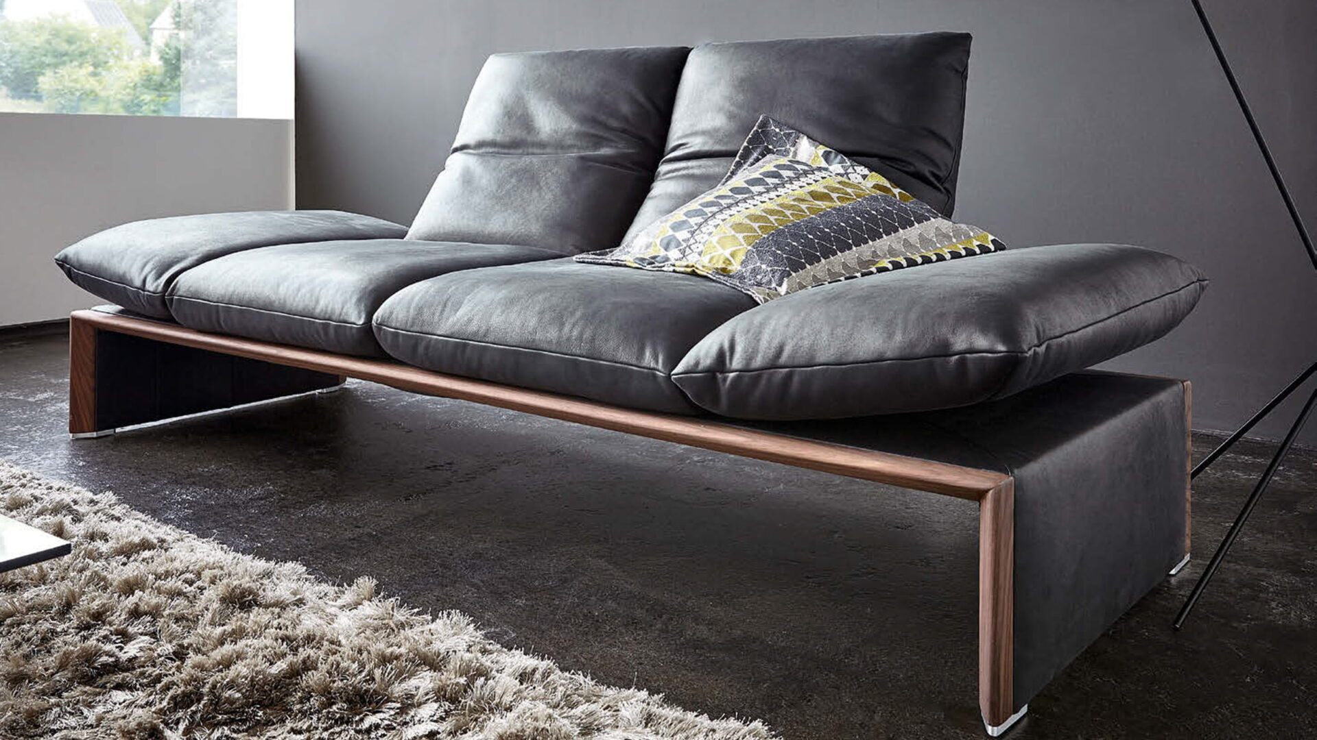 Koinor Leder Sofa schwarz