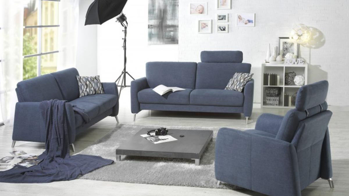 Arco Sofa blau