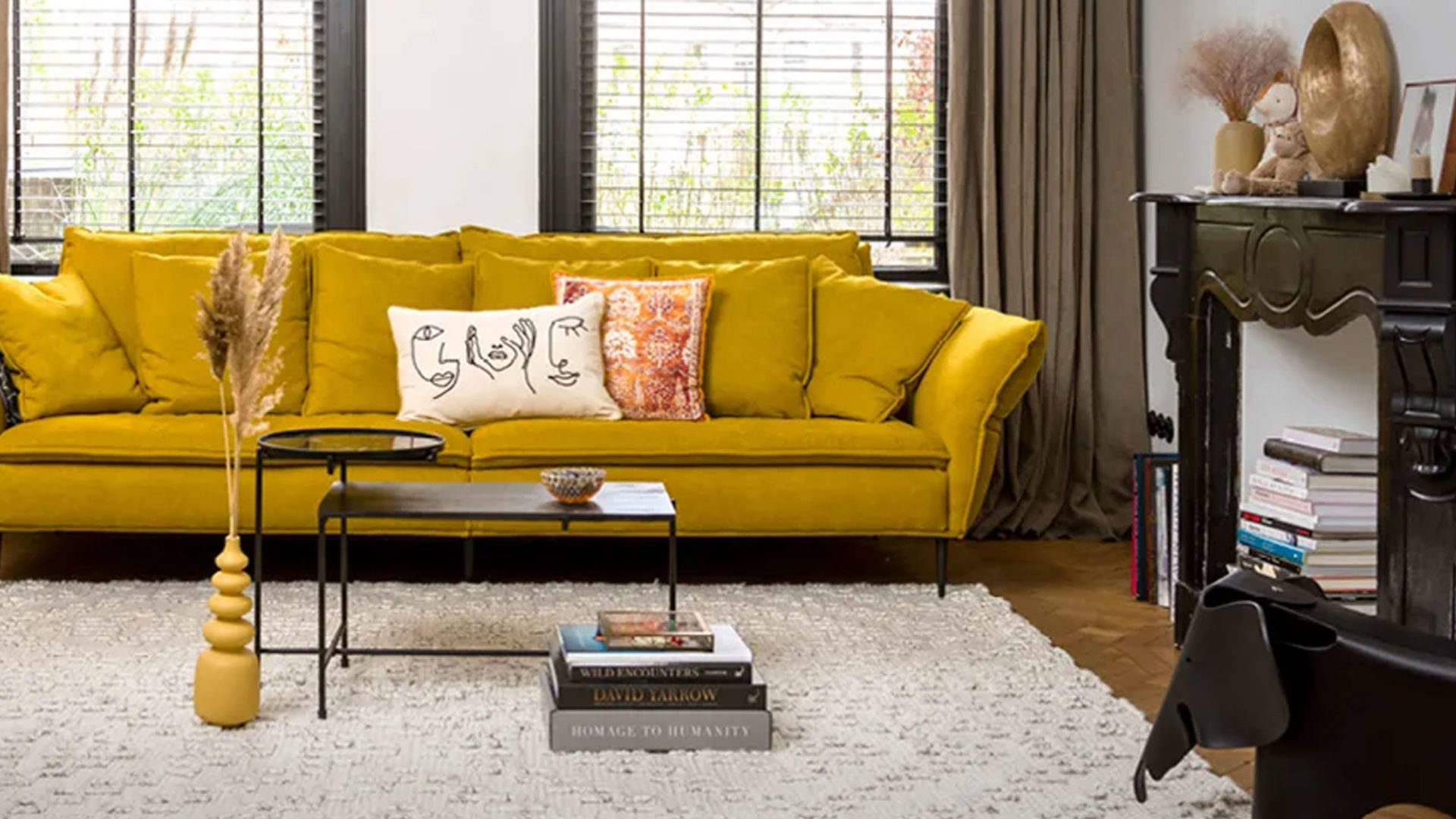habufa henders & hazel wohnzimmer sofa in gelb