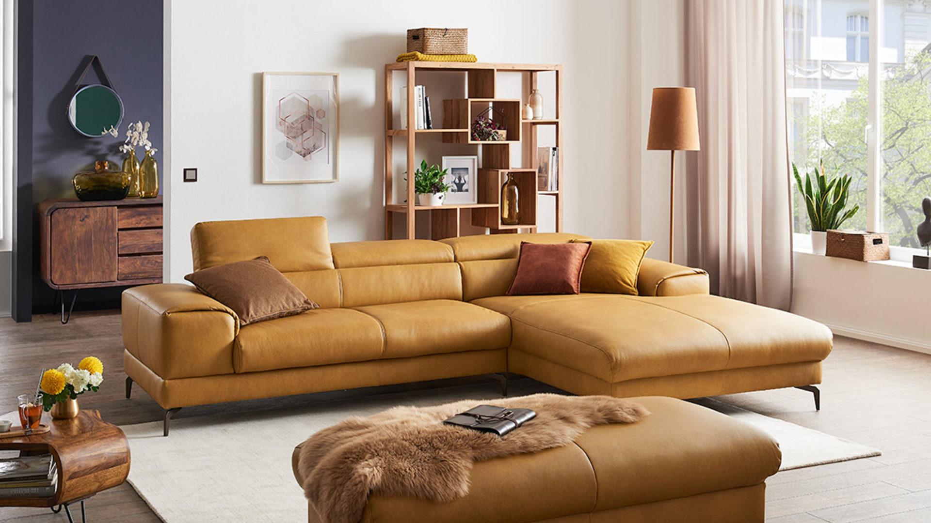 w schillig sofa piedroo leder gelb
