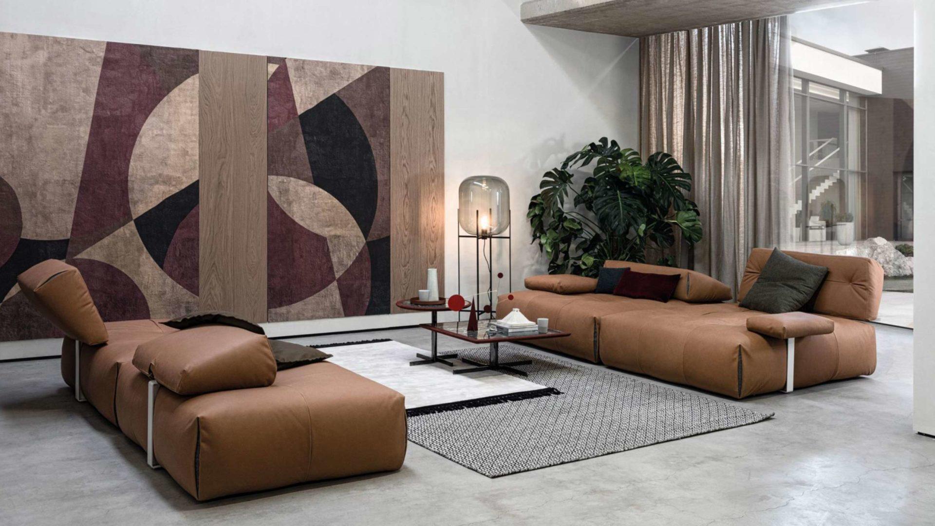 modulares big sofa tab von cierre in braun